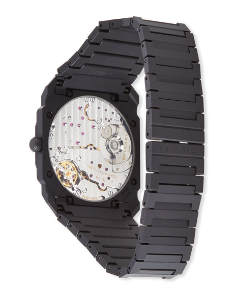 Image 3 of 3: BVLGARI Men's Octo Finissimo Automatic Bracelet Watch in Black Ceramic