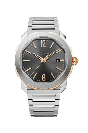 BVLGARI Men's 41mm Octo Roma Bracelet Watch with Date