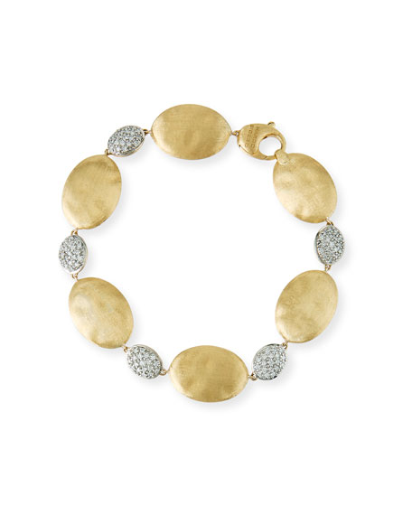 Marco Bicego Large Siviglia Bead Bracelet with Diamonds