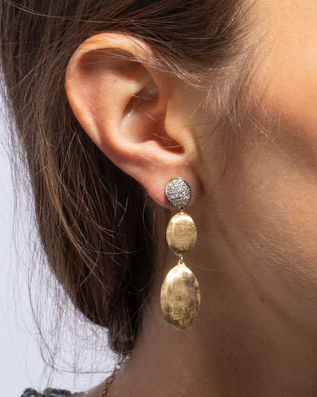 Image 2 of 2: Marco Bicego Siviglia Large 3-Drop Earrings with Diamonds