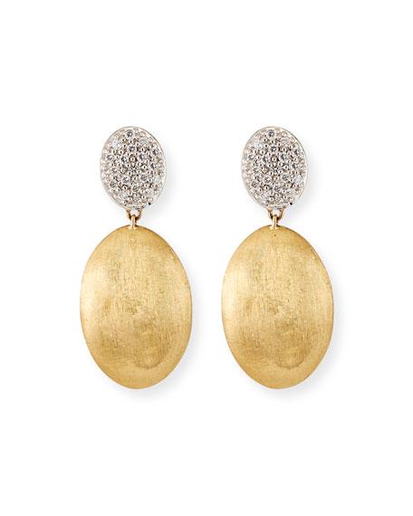 Marco Bicego Siviglia 14k Gold Bead Medium 2-Drop Earrings with Diamonds