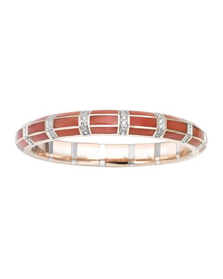 Picchiotti Xpandable 18k Rose Gold Lapis and Diamond Bracelet