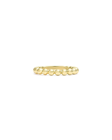 Image 3 of 5: Lagos 18K Gold Stacking Ring, Size 7