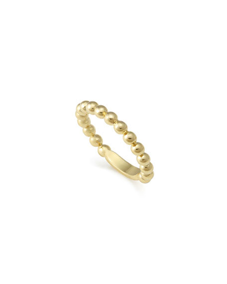 Image 1 of 5: Lagos 18K Gold Stacking Ring, Size 7