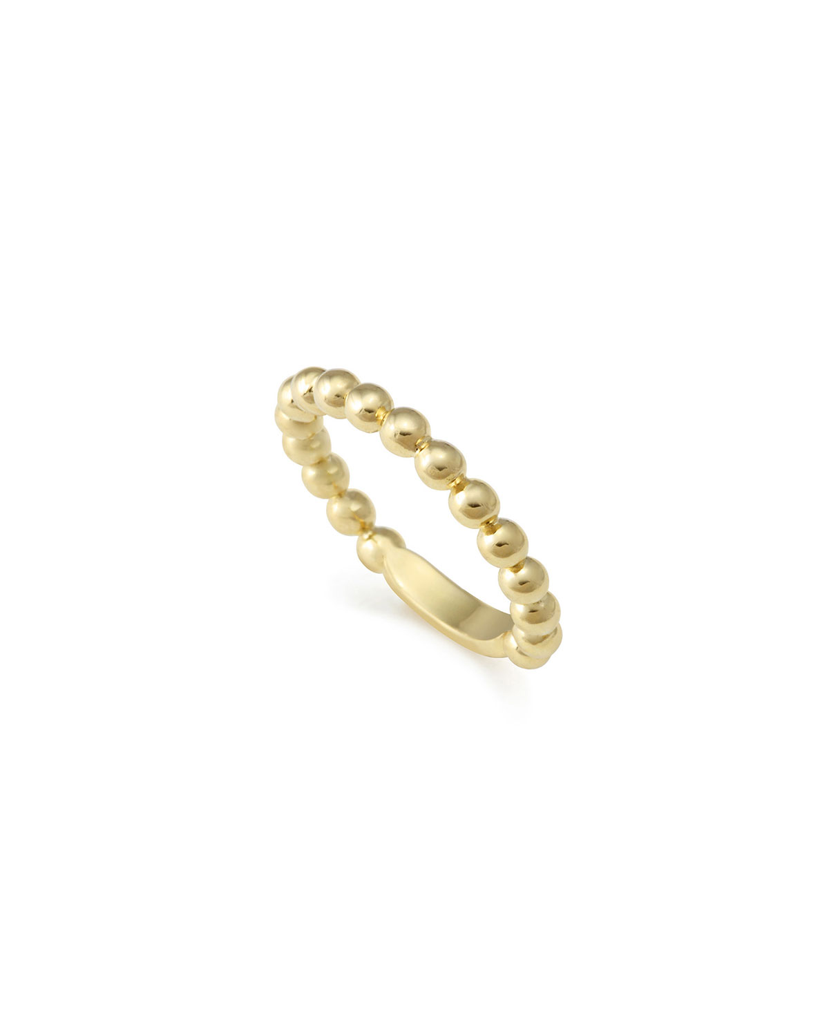 Lagos 18K Gold Stacking Ring, Size 7