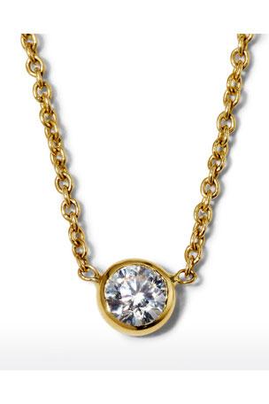 Roberto Coin 18k Yellow Gold Diamond-Bezel Necklace
