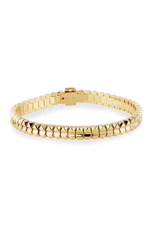 "Roberto Coin Rock and Diamonds 18k Rose Gold Bracelet, 6.6"""