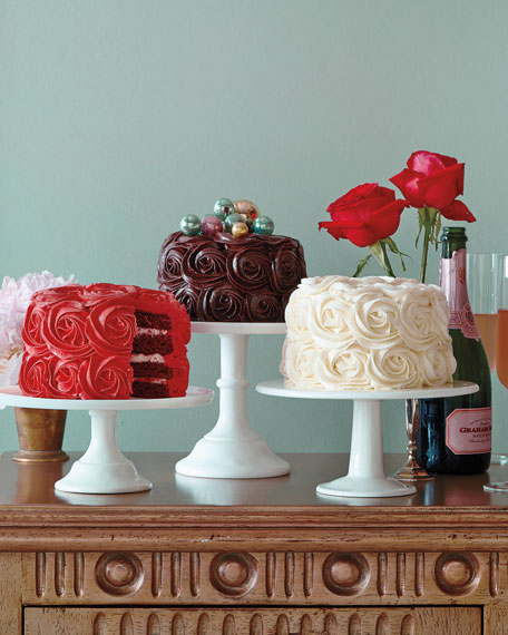 Red Velvet Rose Cake, For 8-10 People