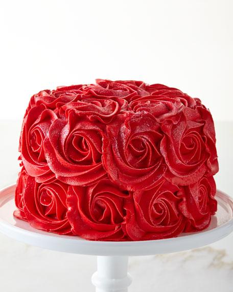 Images For Rose Cake : Red Velvet Rose Cake, For 8-10 People