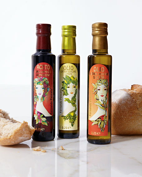 Art Nouveau-Inspired Italian Olive Oil & Balsamic Vinegar Set