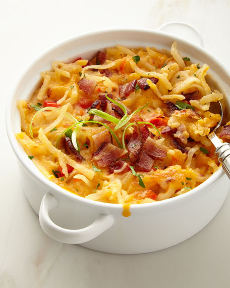 Hash Brown Casserole with Bacon, For 10 People