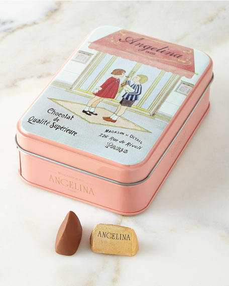 Angelina Gianduja Chocolates in Tin