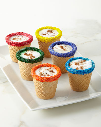 Multicolored Waffle Shots