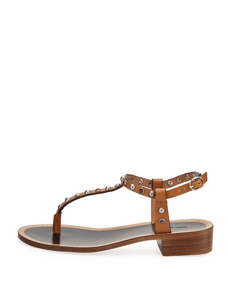 Aelith Studded Thong Sandal, Natural