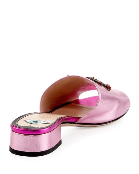 Wangy Jeweled Mule Slide