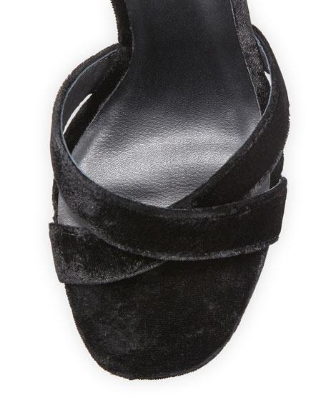 Nadav Velvet Tassel Sandal