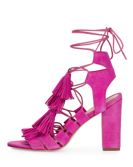 Luz Suede Lace-Up Sandal