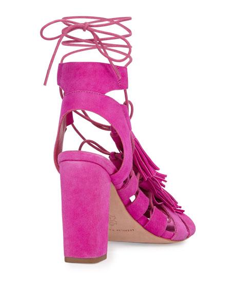 Luz Suede Lace-Up Sandal
