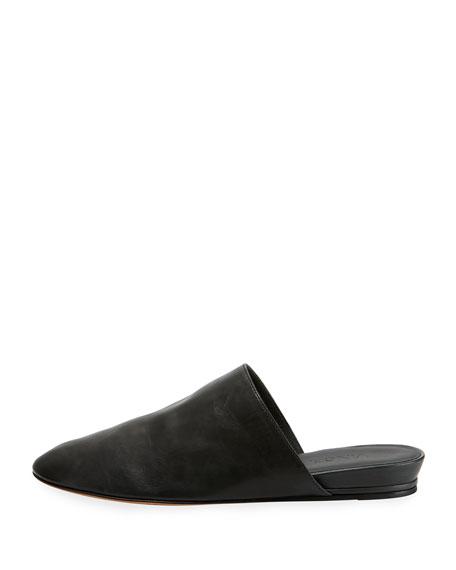 Oren 2 Leather Flat Mule, Black