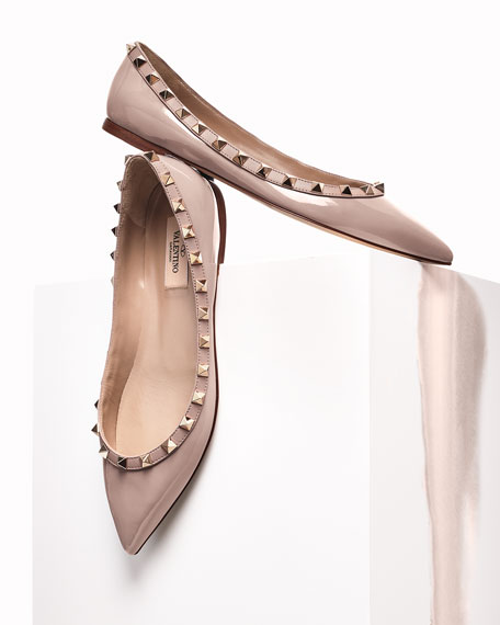 Rockstud Patent Ballet Flats