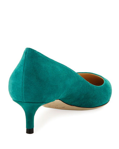 Romy Suede Low-Heel Pump