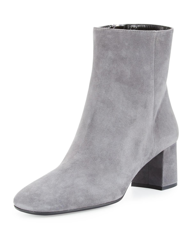 f9f0f91c4b Prada Suede Square-Toe 55mm Ankle Boot | Neiman Marcus