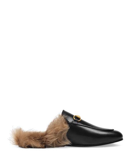 Princetown Fur Lined Mule