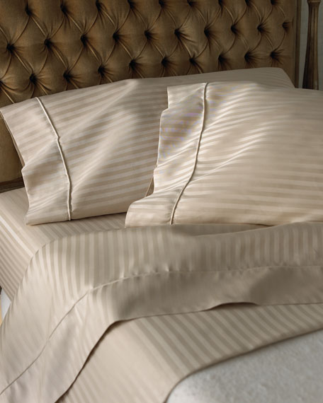 Two Extra Standard 600 Thread Count Pima Stripe Pillowcases