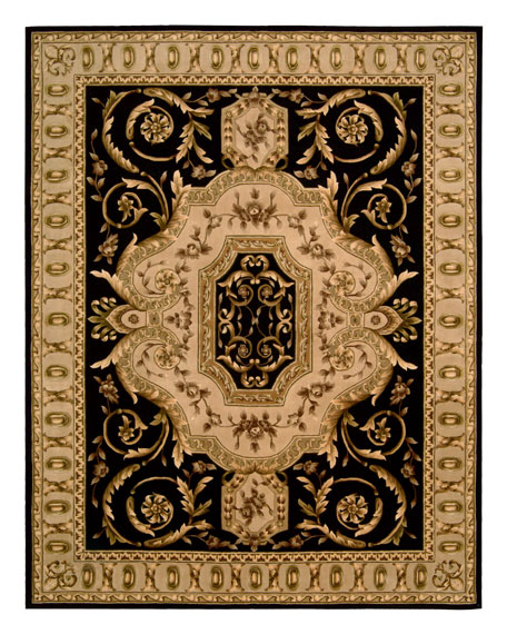 NourCouture Empire Scrolls Rug, 8' Square