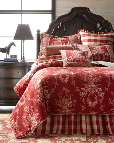 French Country Bedding & Houndstooth Quilt Set