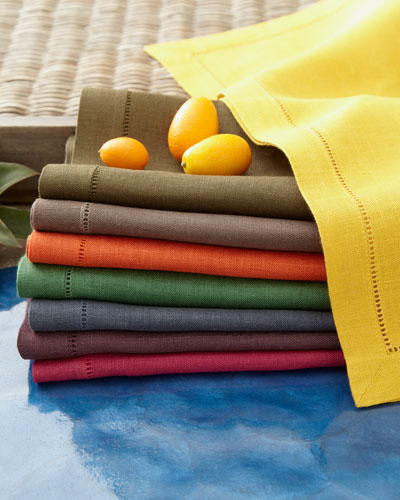 Bold Hemstitch Table Linens