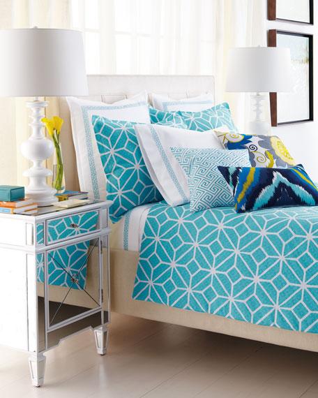 Trina Turk King Turquoise Trellis King Comforter Set