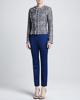St. John Collection Tweed Jacket, Sleeveless Blouse & Trouser Pants
