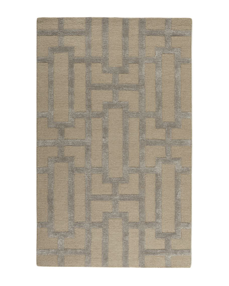 Modern Block Rug, 8' x 11'