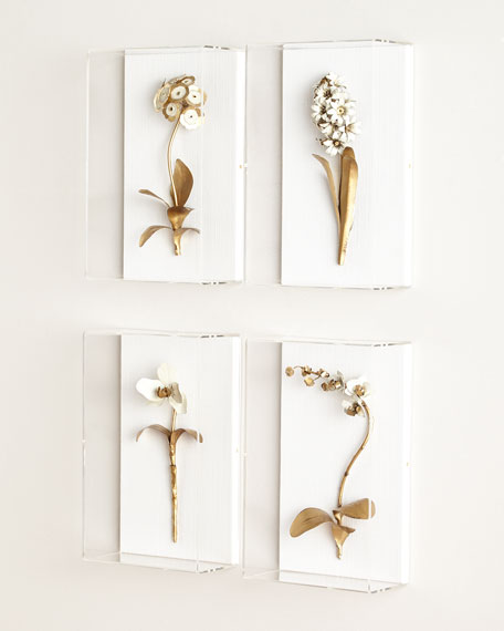 Tommy Mitchell Original Gilded Auricula Study on Linen