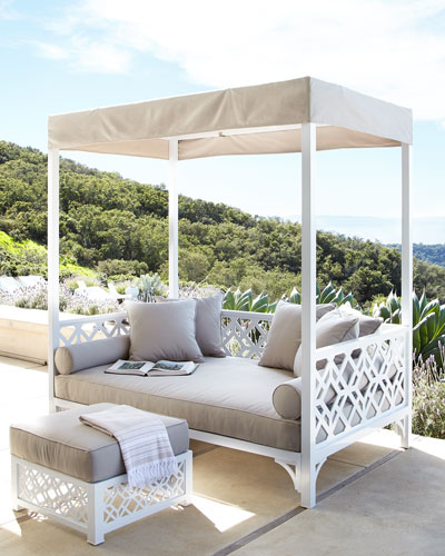 Tamsin Chinois Outdoor Daybed & Ottoman