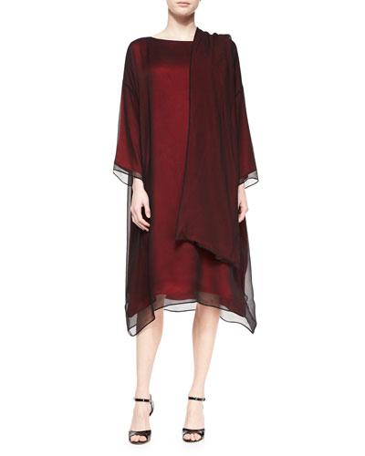 Chiffon Overlay Tunic Dress & Chiffon Overlay Scarf