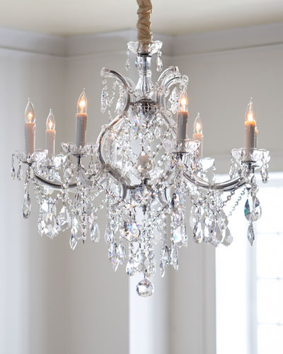 Crystal Drop Chandeliers & Cord Cover