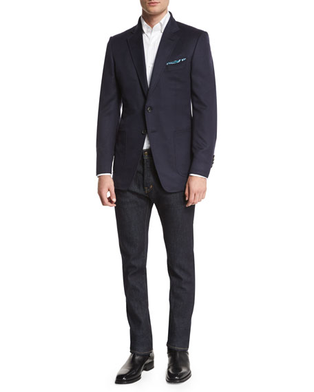 TOM FORD O'Connor Base Brushed Cashmere Twill Blazer,
