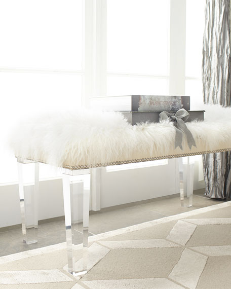 white fccb bench overstock product today sheepskin zelda home free garden shipping