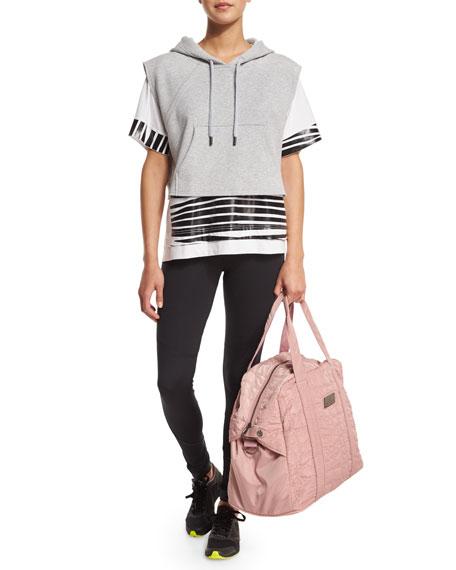 adidas by Stella McCartney Essentials Short-Sleeve Zebra-Print