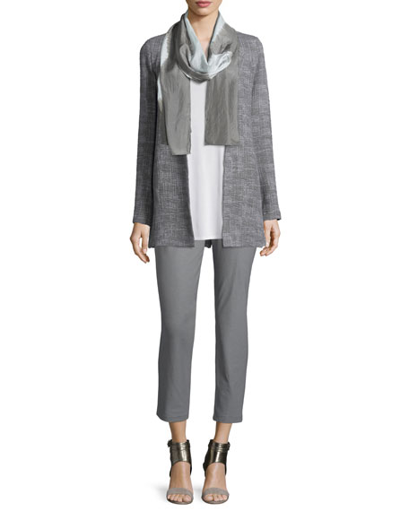 Eileen Fisher Crosshatch Tencel® Long Jacket, Smoke