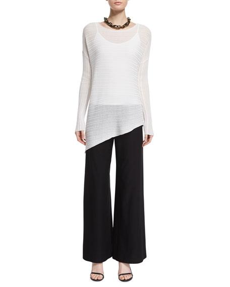Eileen Fisher Variegated Asymmetric Tencel® Top, Plus Size