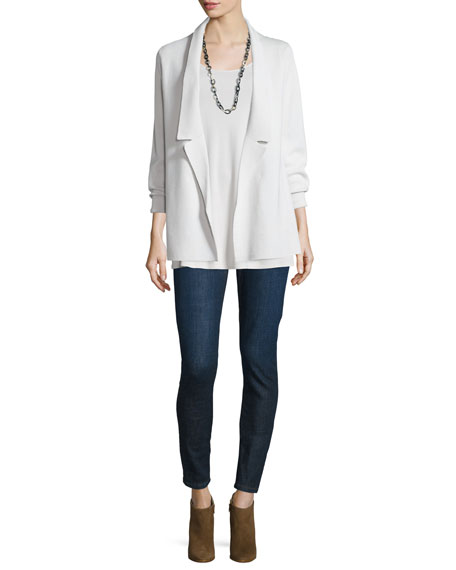 Eileen Fisher Long Silk Jersey Tunic, Plus Size
