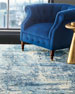 Image 5 of 8: Exquisite Rugs Blue Horizon Rug, 10' x 14'