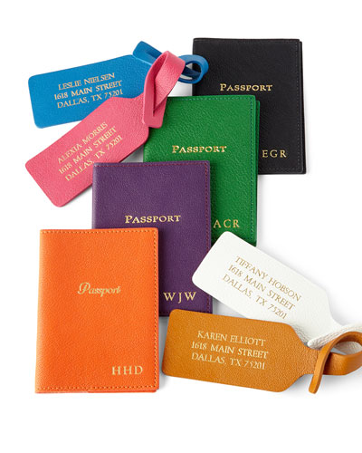 Personalized Passport Case & Luggage Tags