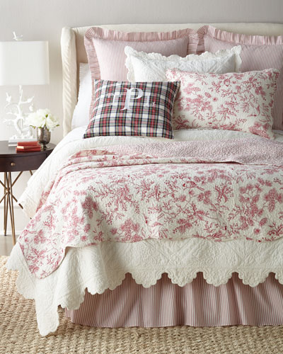 Evergreen Toile Bedding