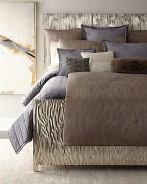 d8911dee2026 Donna Karan Home Full/Queen Channel-Sti Thread Counth Velvet Quilt King  Channel-