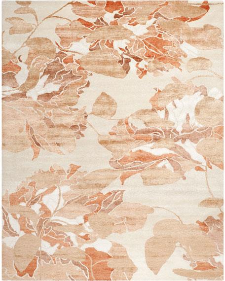 Bright Floral Wash Rug, 6' x 9'