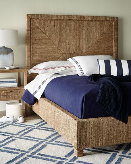 Palecek Decklin Rope-Wrapped Queen Bed